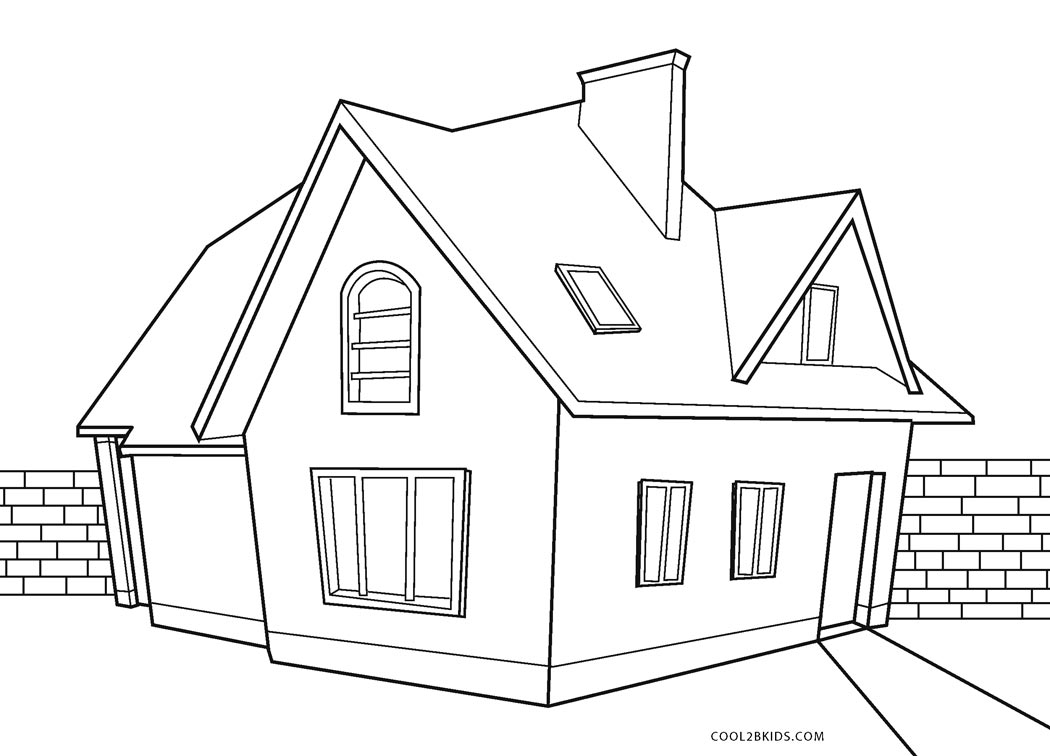 coloring pages houses free printable house coloring pages for kids pages houses coloring 1 1