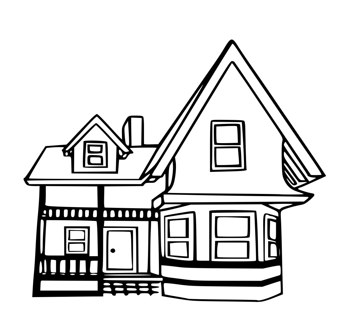 coloring pages houses house coloring pages free download on clipartmag pages coloring houses
