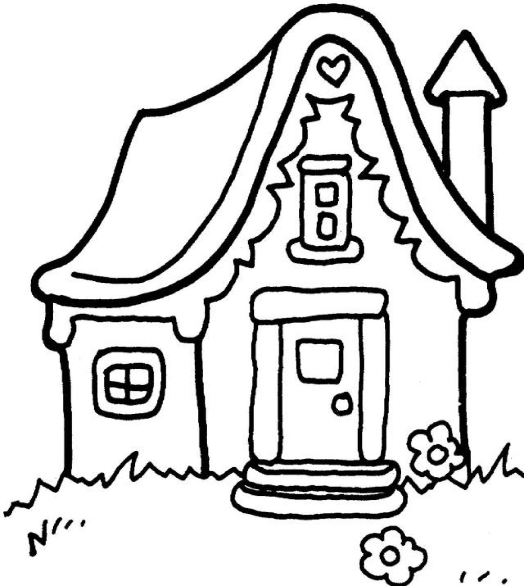 coloring pages houses school house outline free download on clipartmag pages houses coloring