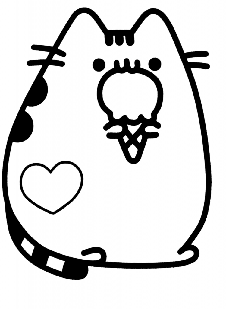 coloring pages of cute things cute cat coloring pages to download and print for free pages of cute coloring things