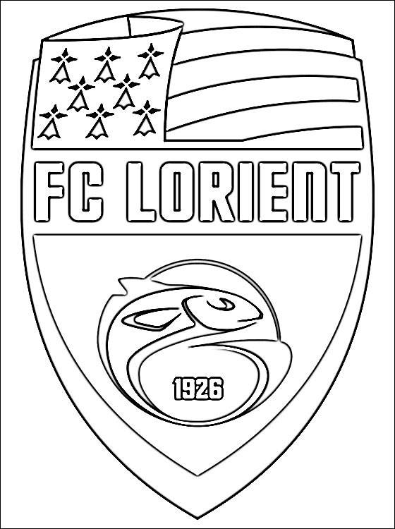 coloring pages of football teams printable fc lorient football team free sheets coloring page pages coloring of football teams