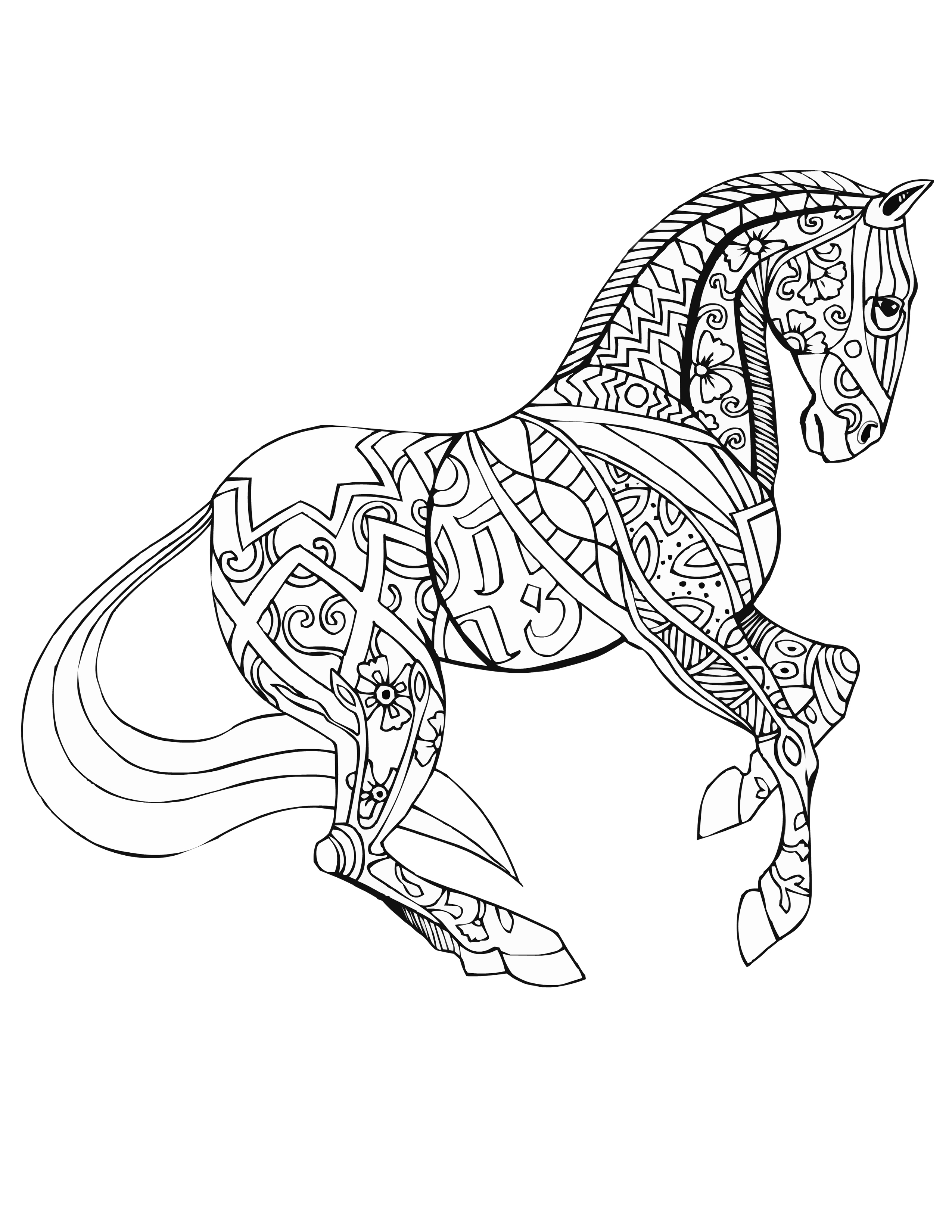 coloring pages of horses to print adult coloring pages animals best coloring pages for kids of coloring print to horses pages