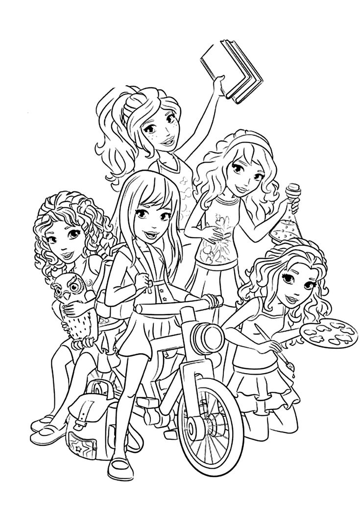 coloring pages of lego friends lego friends all coloring page for kids printable free pages coloring friends lego of