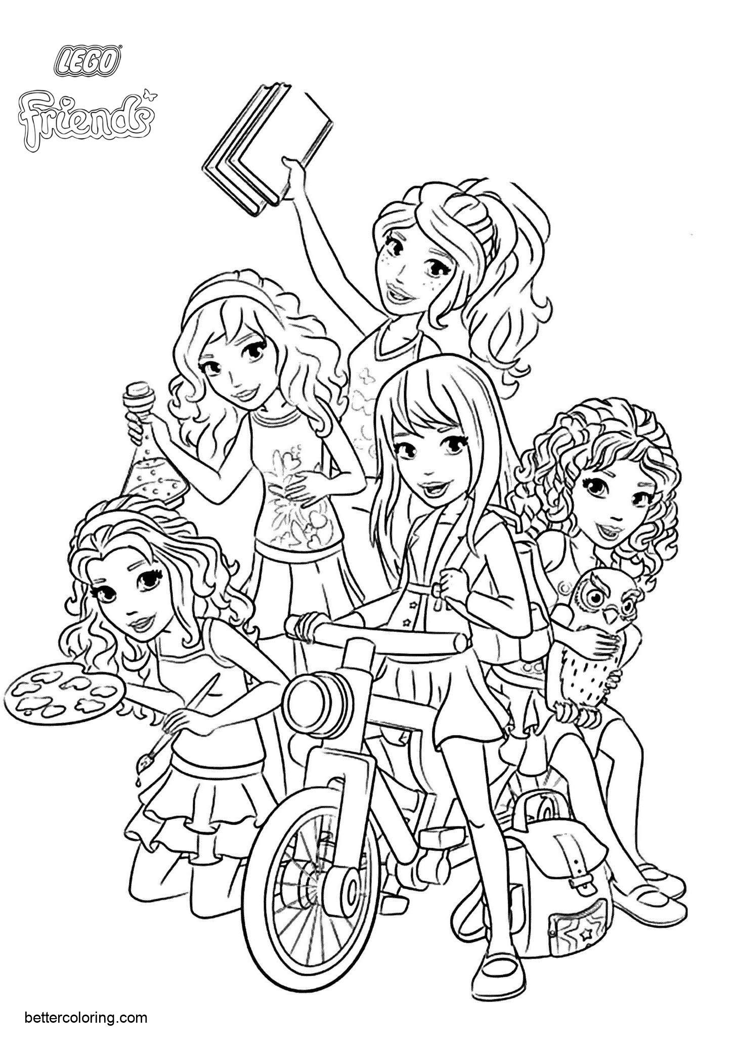 coloring pages of lego friends lego friends characters coloring pages free printable friends coloring of pages lego