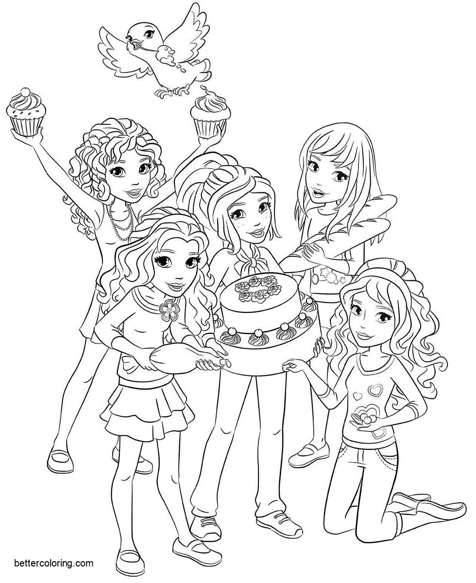 coloring pages of lego friends lego friends coloring pages birthday cake free printable of lego pages friends coloring