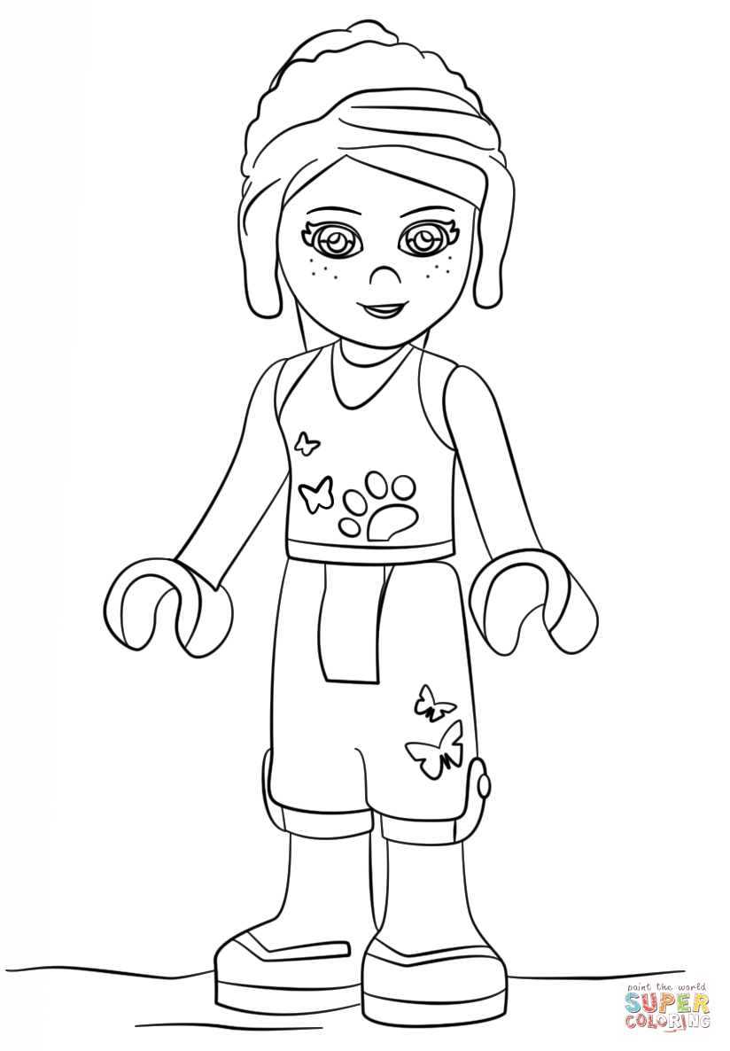 coloring pages of lego friends lego friends mia coloring page free printable coloring pages coloring lego friends of pages