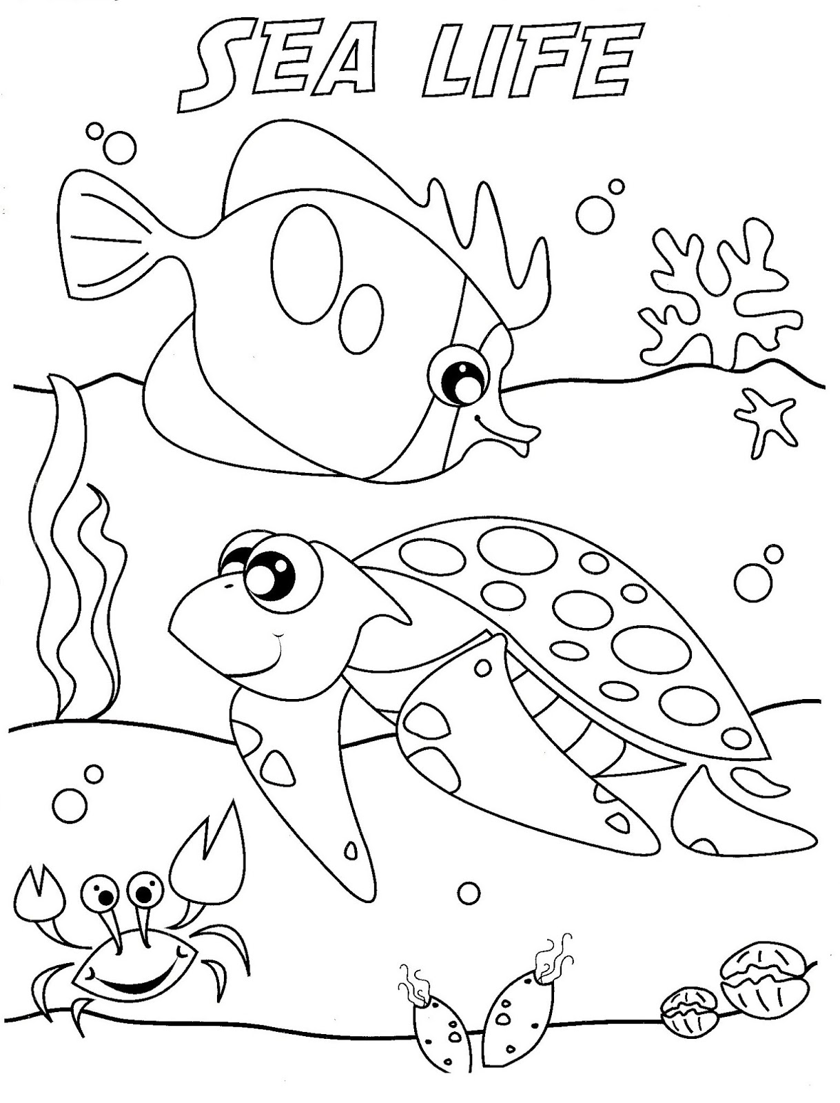 coloring pages of sea life sea creatures drawing at getdrawings free download pages of coloring sea life