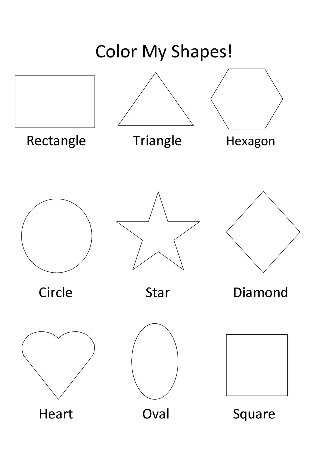 coloring pages of shapes free printable shapes coloring pages for kids coloring pages shapes of