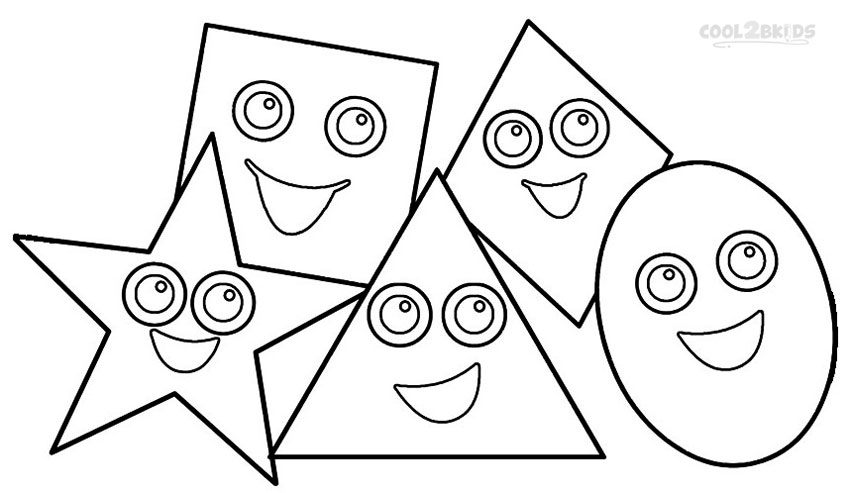 coloring pages of shapes printable shapes coloring pages for kids cool2bkids coloring of pages shapes
