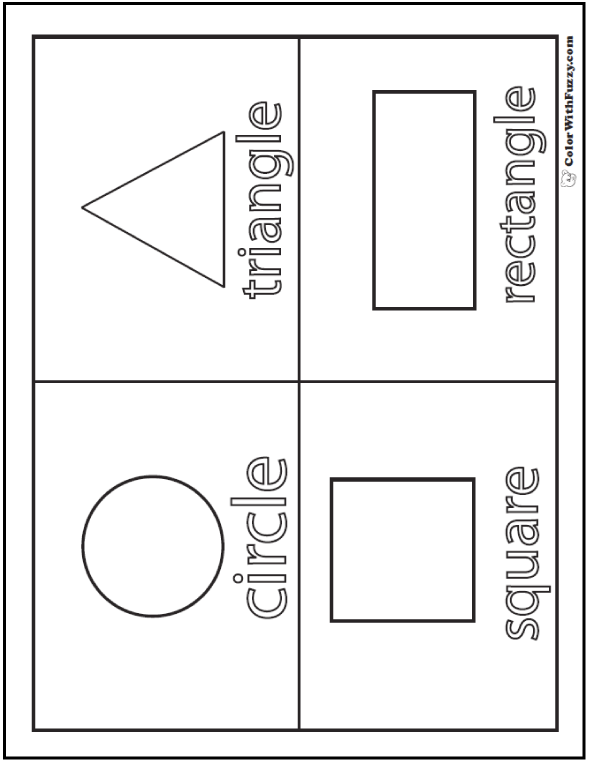 coloring pages of shapes shape coloring pages customize and print coloring of shapes pages
