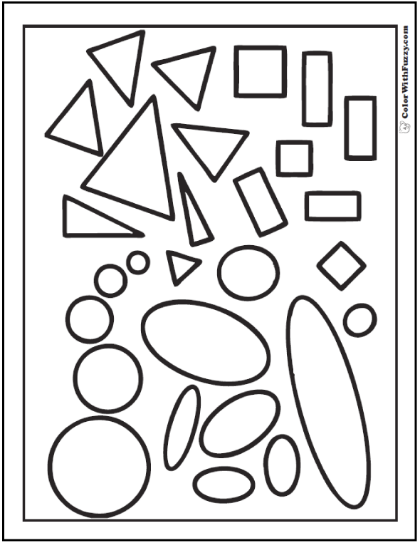 coloring pages of shapes shape coloring pages customize and print of coloring shapes pages