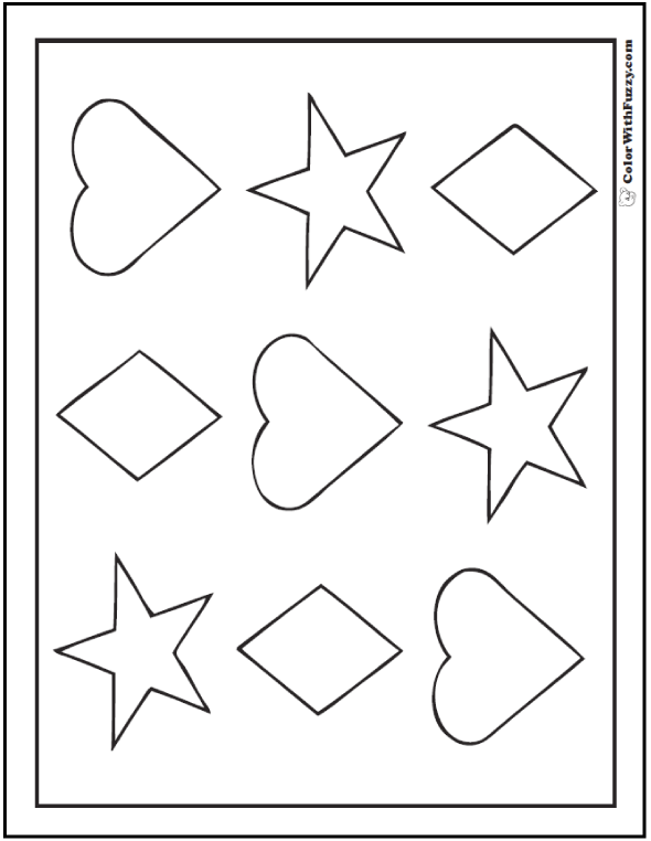 coloring pages of shapes shape coloring pages customize and print shapes of coloring pages