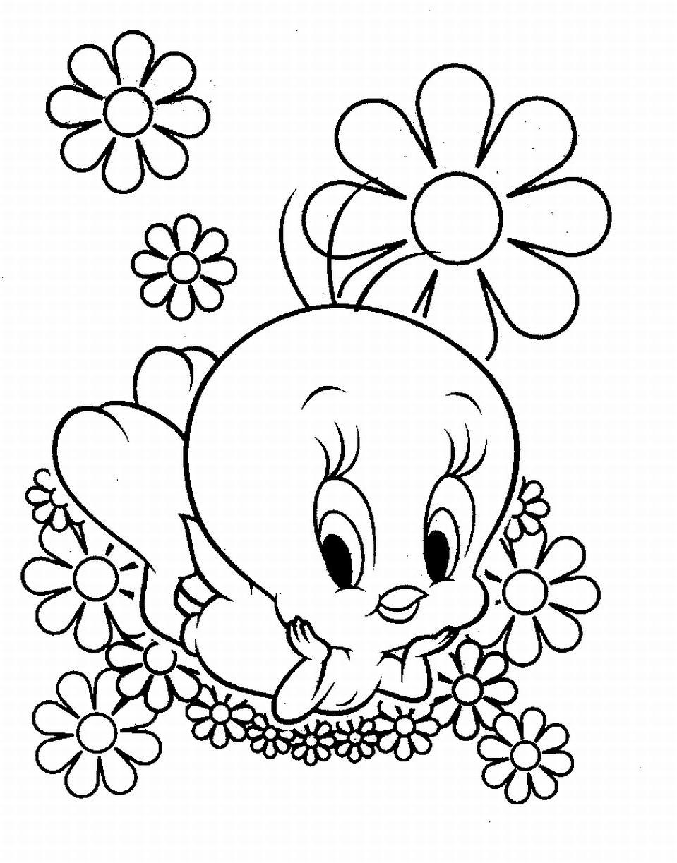 coloring pages of tweety interesting tweety bird coloring pages to attract children pages tweety of coloring