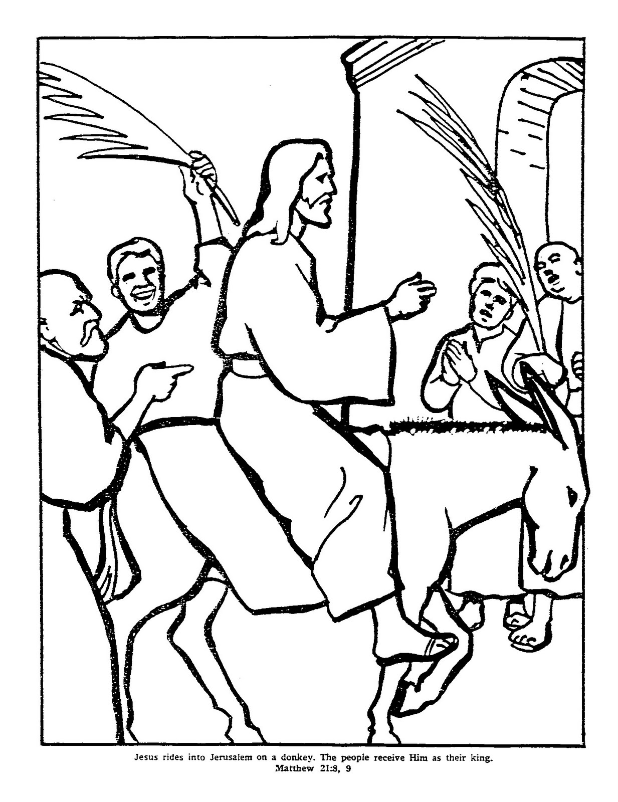 coloring pages palm sunday httpwwwbiblekidseunewtestamentpalmsundaypalm coloring palm pages sunday