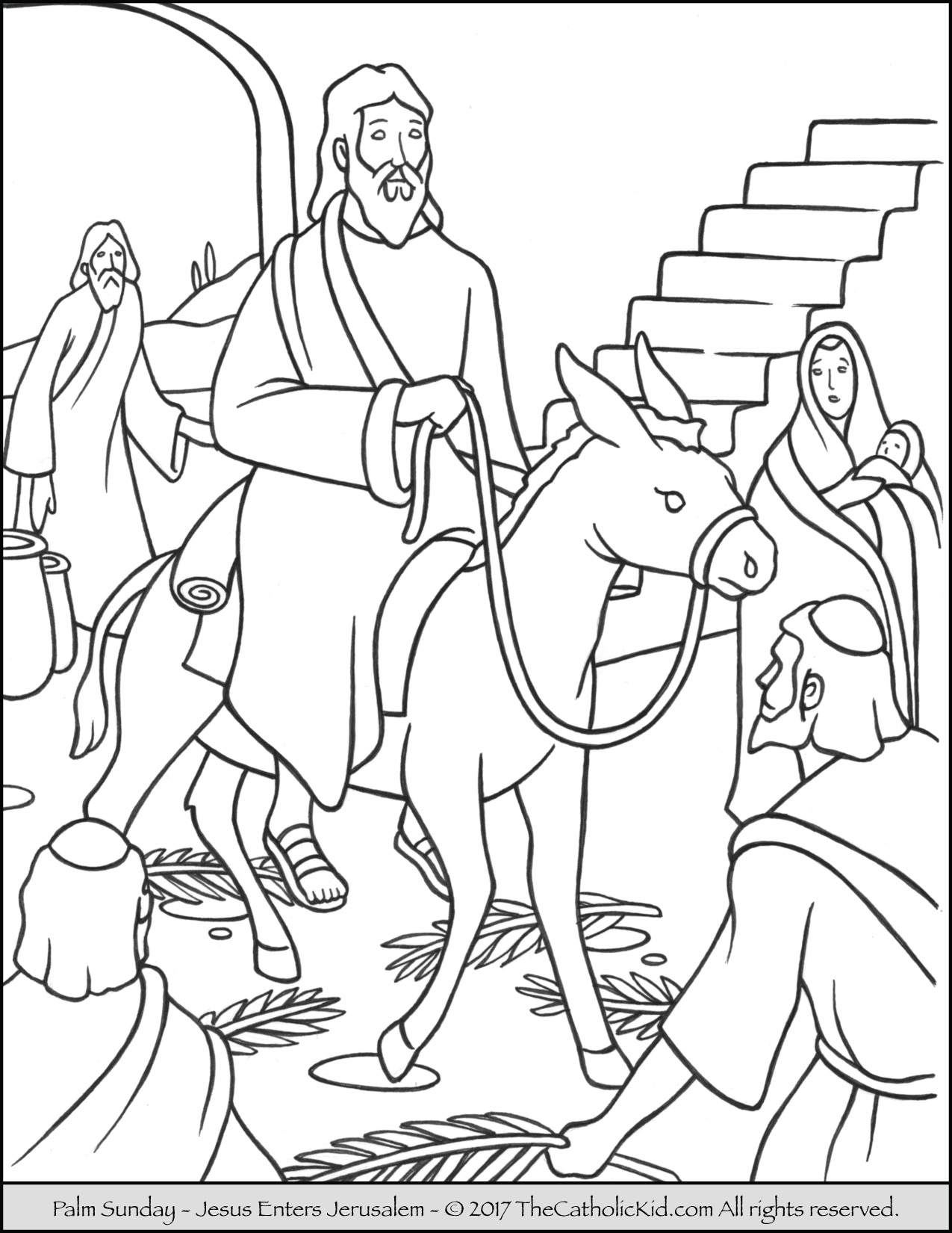 coloring pages palm sunday palm sunday coloring page coloring pages gospel coloring palm sunday pages