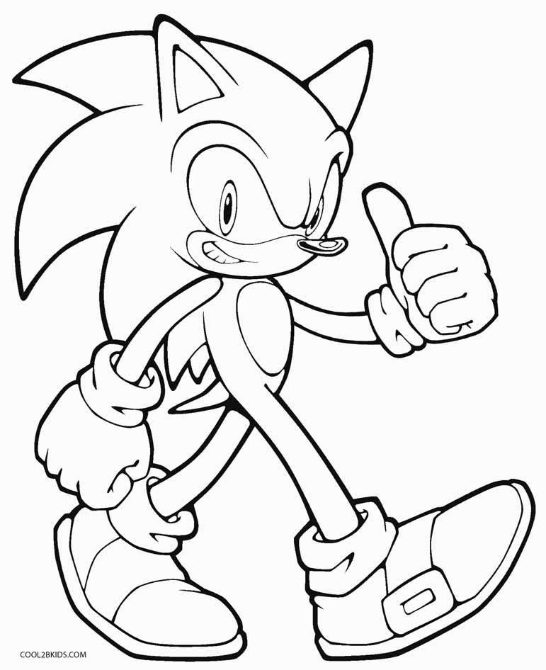 coloring pages sonic printable sonic the hedgehog coloring pages coloringmecom sonic coloring pages