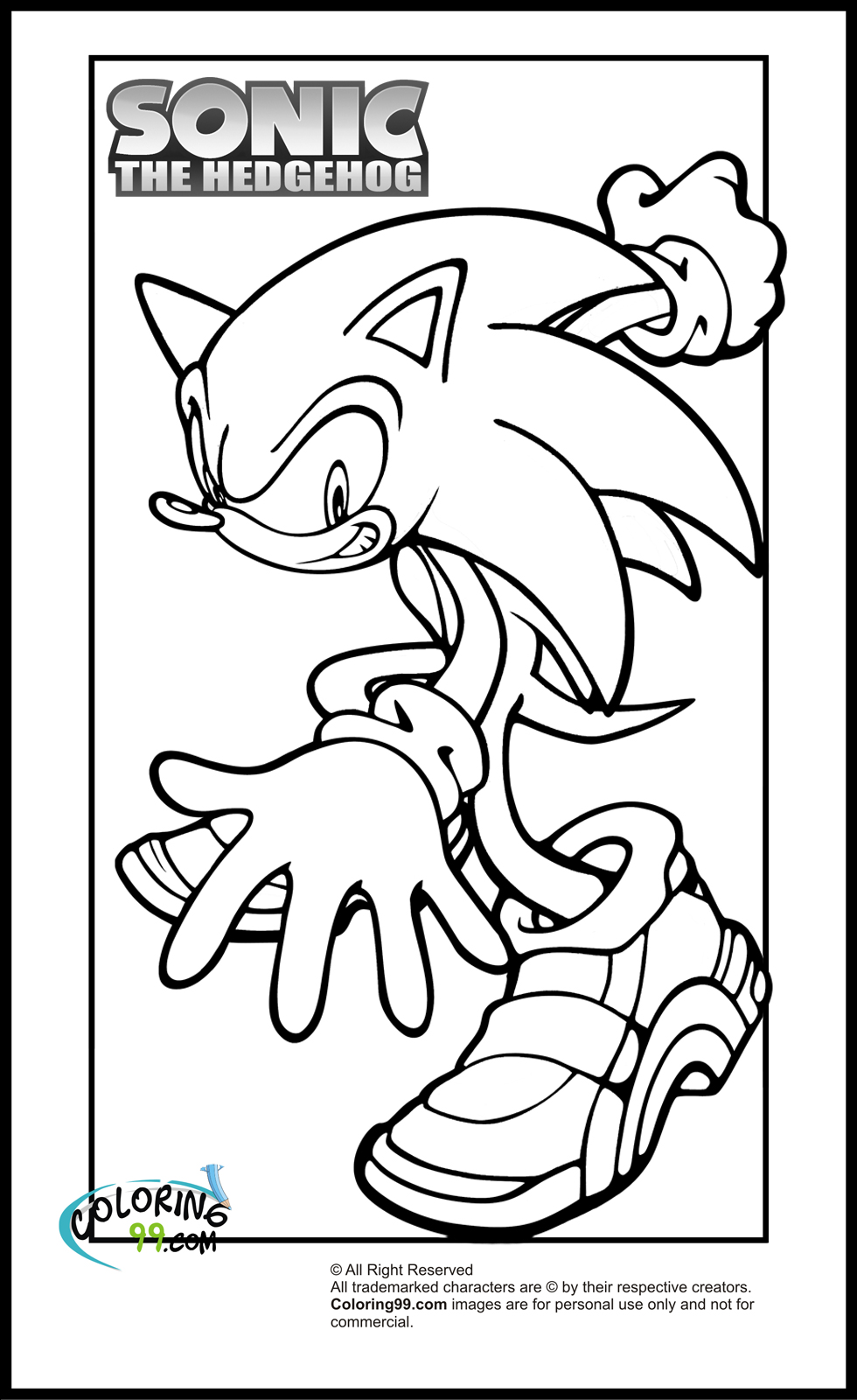 coloring pages sonic sonic the hedgehog coloring book coloring sonic pages