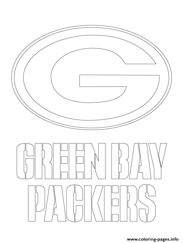 coloring pages sports logos green bay packers logo football sport coloring pages printable coloring sports logos pages