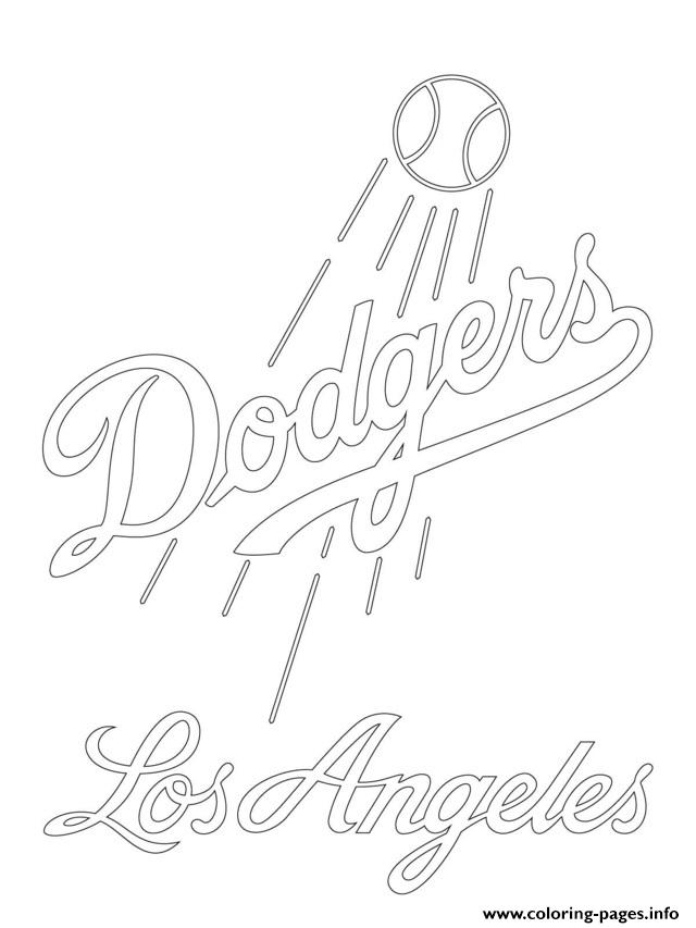 coloring pages sports logos los angeles dodgers logo mlb baseball sport coloring pages pages coloring logos sports