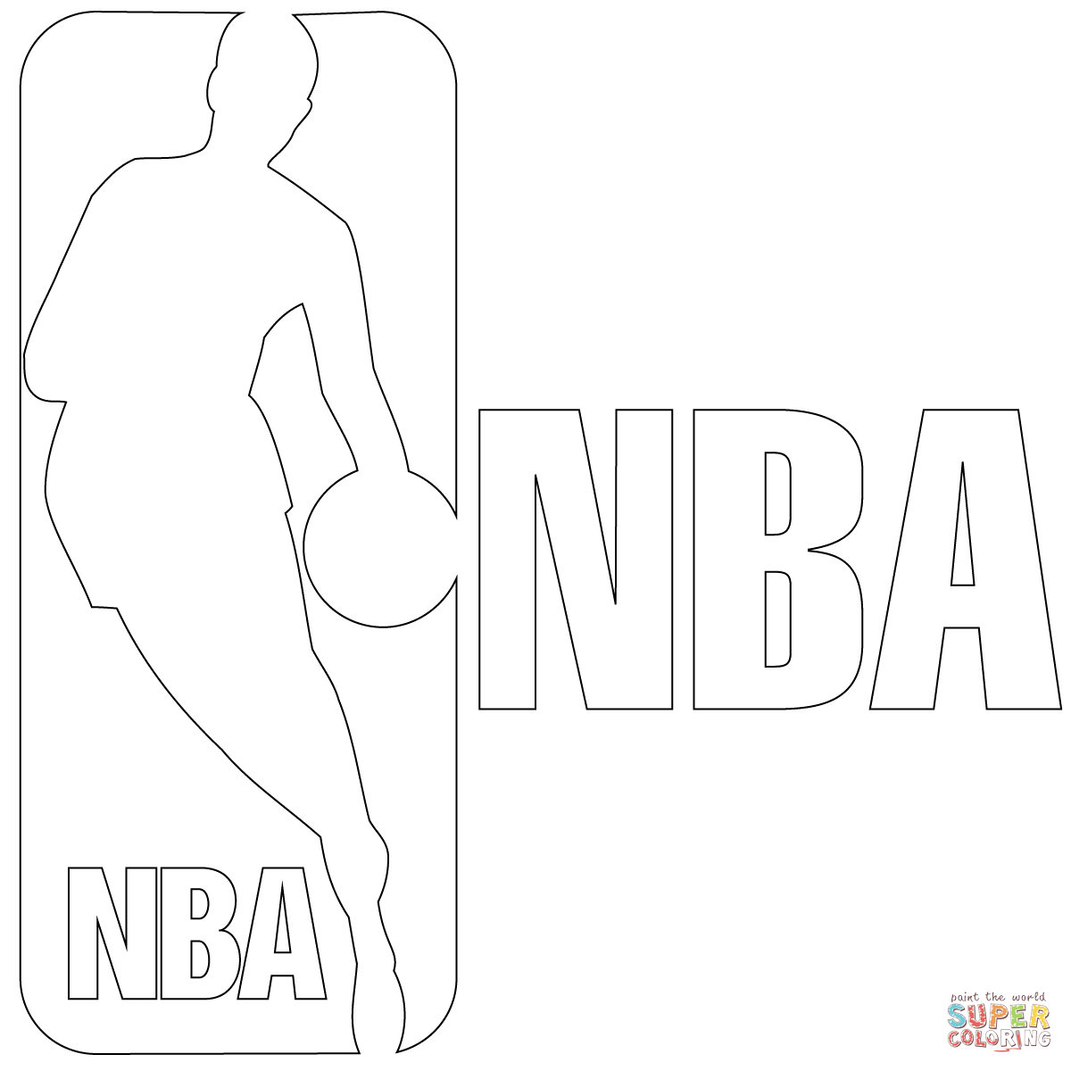 coloring pages sports logos nba logo coloring pages coloring home pages logos sports coloring