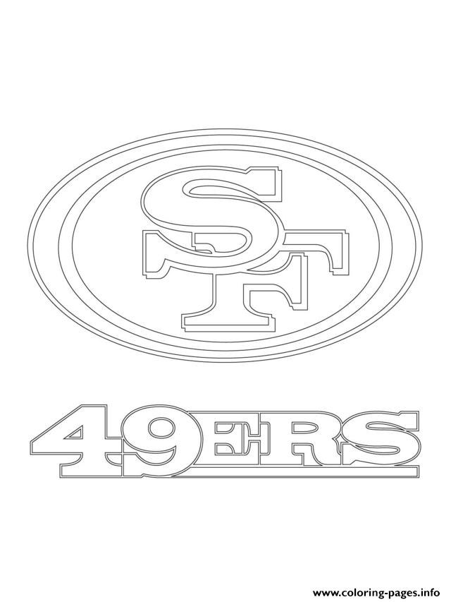 coloring pages sports logos san francisco 49ers logo football sport coloring pages pages logos coloring sports
