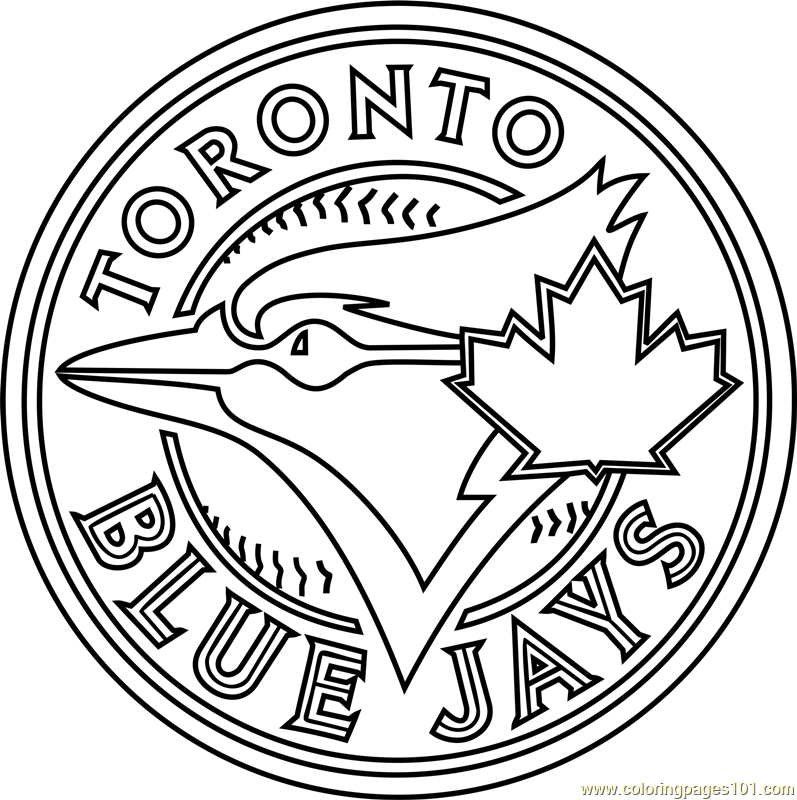 coloring pages sports logos toronto blue jays logo coloring page free mlb coloring sports pages logos coloring