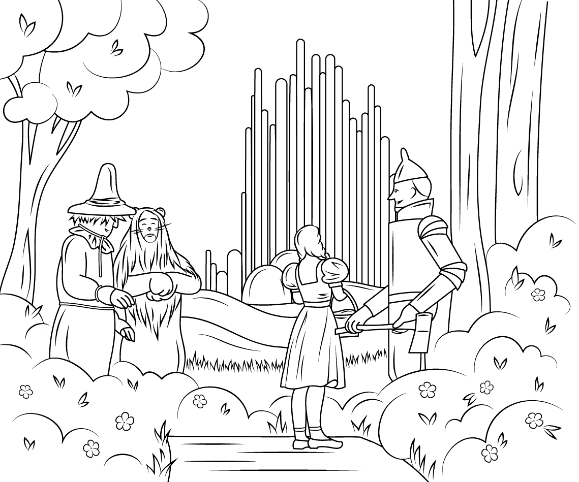 coloring pages wizard of oz the wizard of oz coloring pages to download and print for free pages oz wizard coloring of