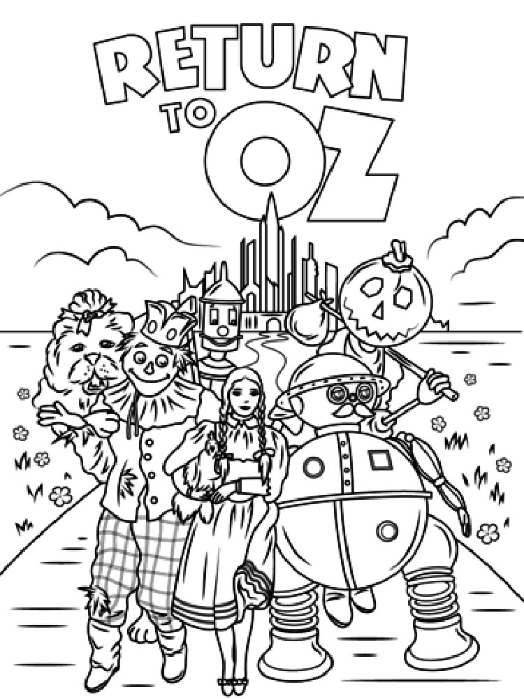 coloring pages wizard of oz wizard of oz coloring pages download and print wizard of coloring oz of pages wizard