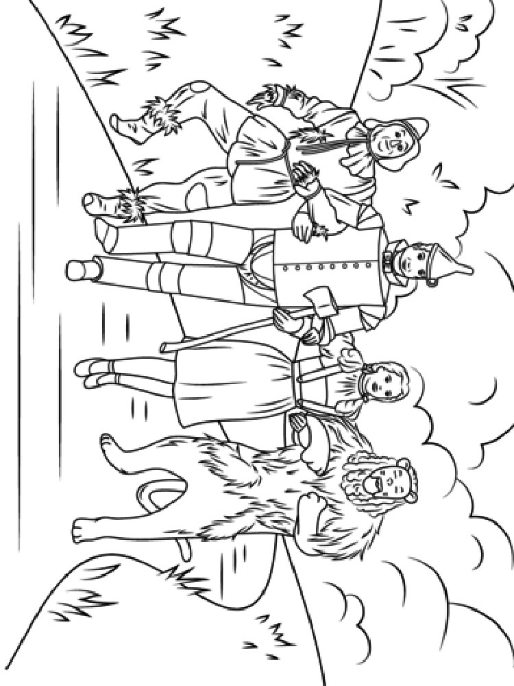 coloring pages wizard of oz wizard of oz coloring printables xyzcoloring coloring pages wizard oz of