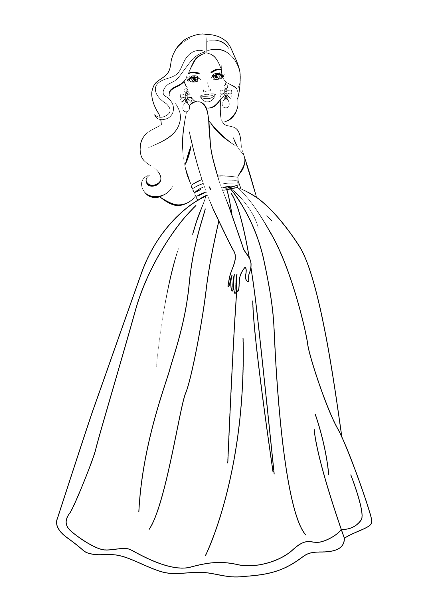 coloring picture of girl adult coloring page girl portrait and clothes colouring of picture coloring girl