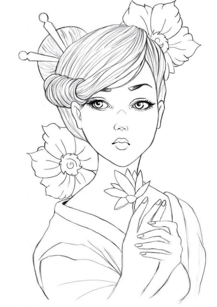coloring picture of girl fashion girl coloring pages coloring pages to download of girl coloring picture