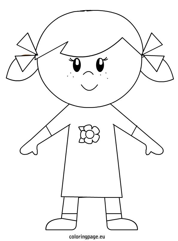 coloring picture of girl free printable powerpuff girls coloring pages picture girl of coloring