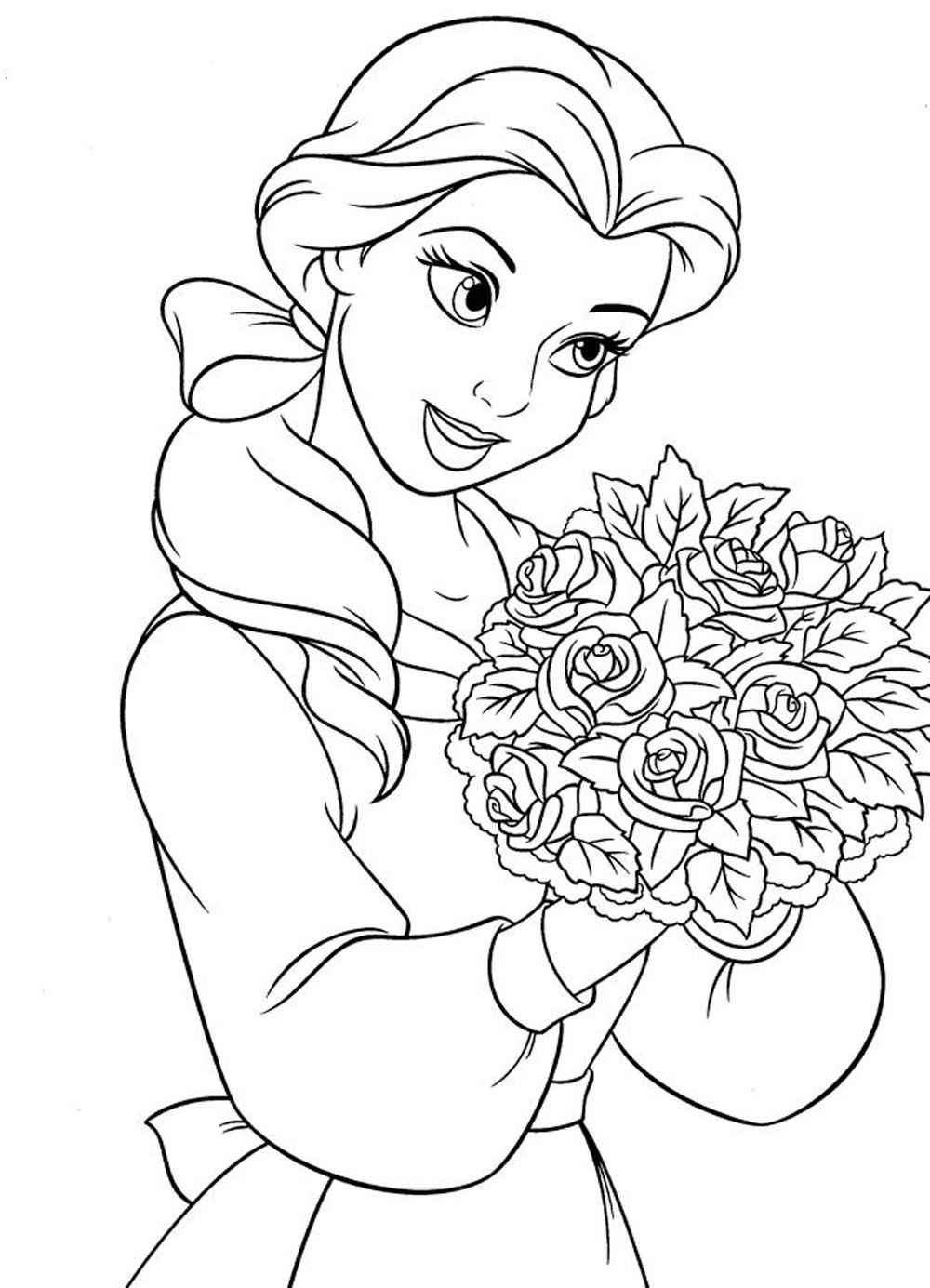 coloring picture of girl girl hair coloring pages at getcoloringscom free picture coloring girl of