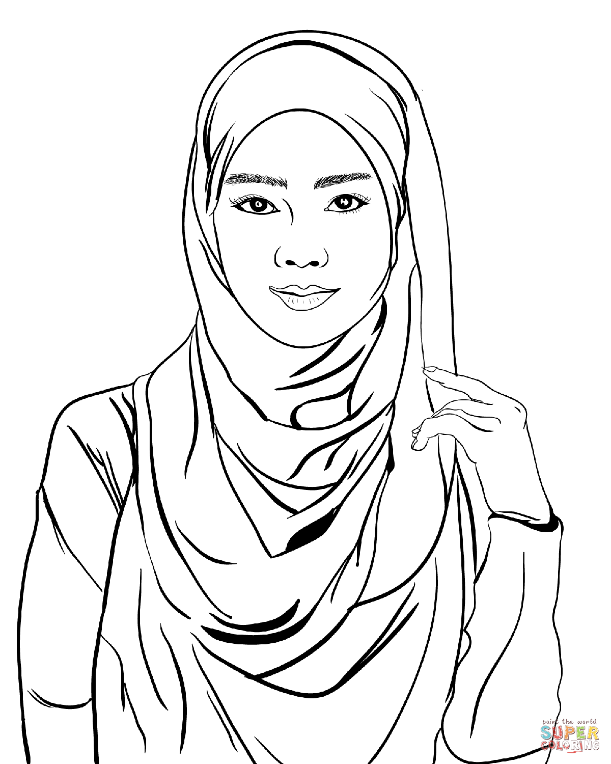 coloring picture of girl realistic girl coloring pages at getcoloringscom free picture girl of coloring