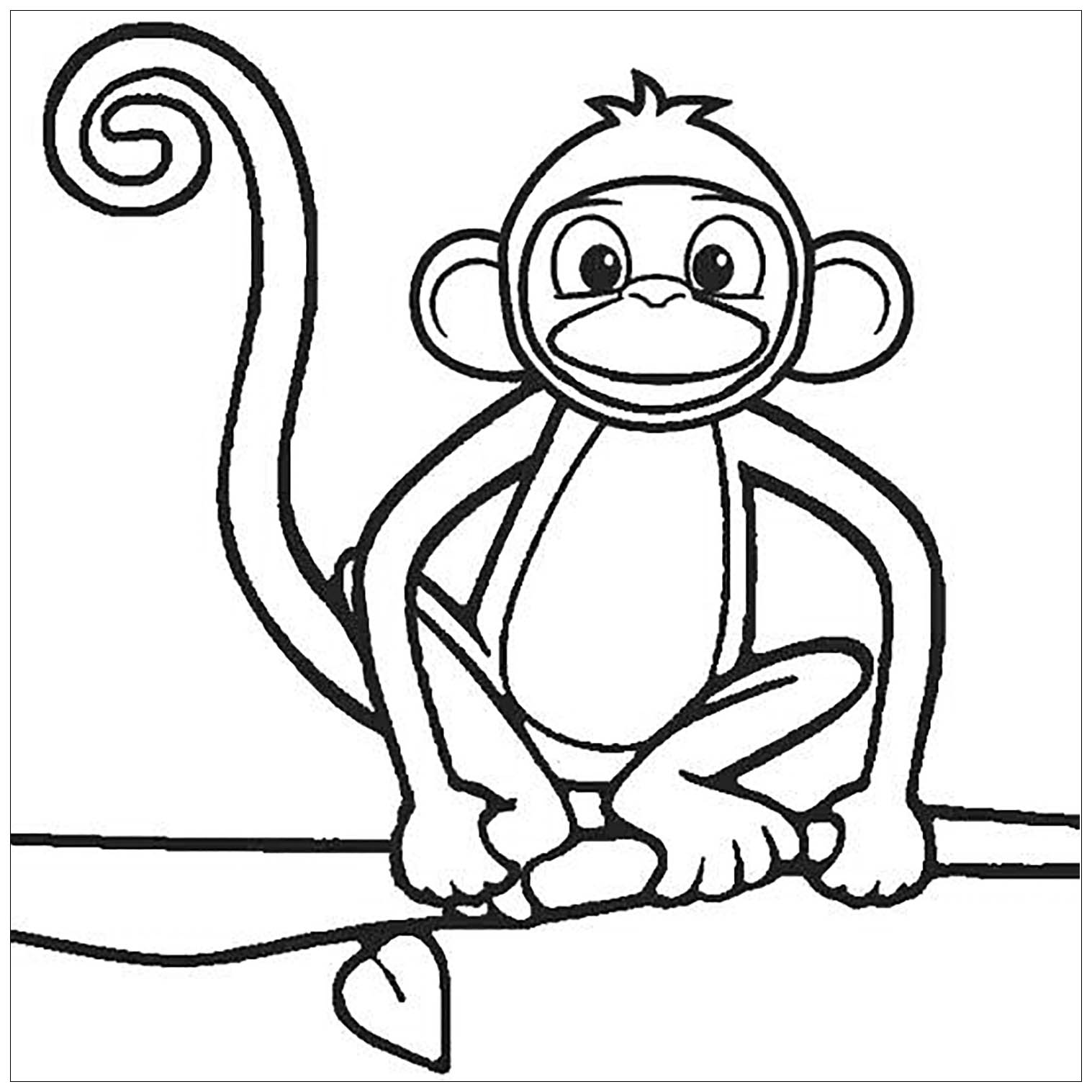 coloring picture of monkey monkey coloring pages for kids to print monkey picture coloring of
