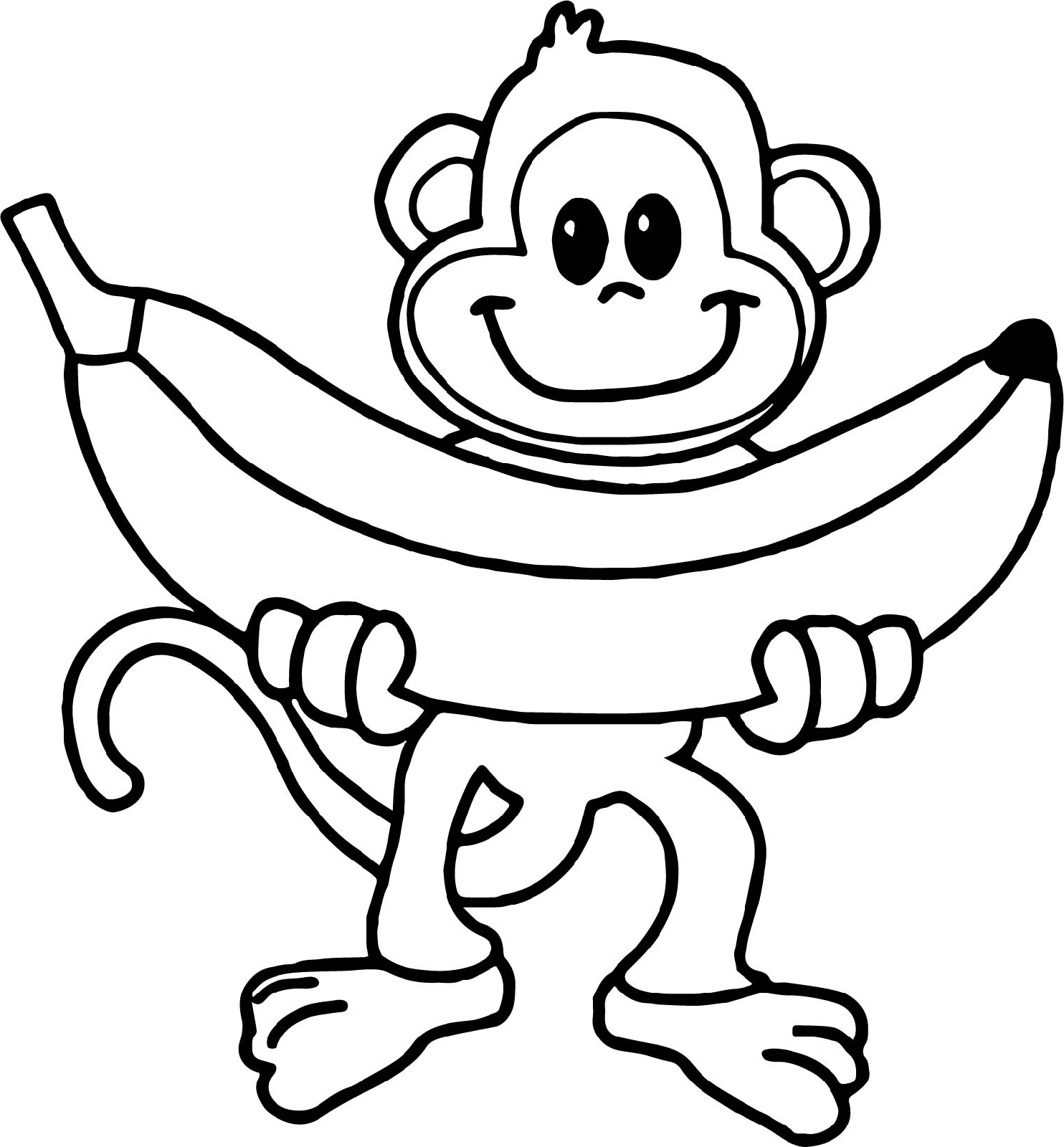 coloring picture of monkey monkey coloring pages free download on clipartmag picture monkey of coloring