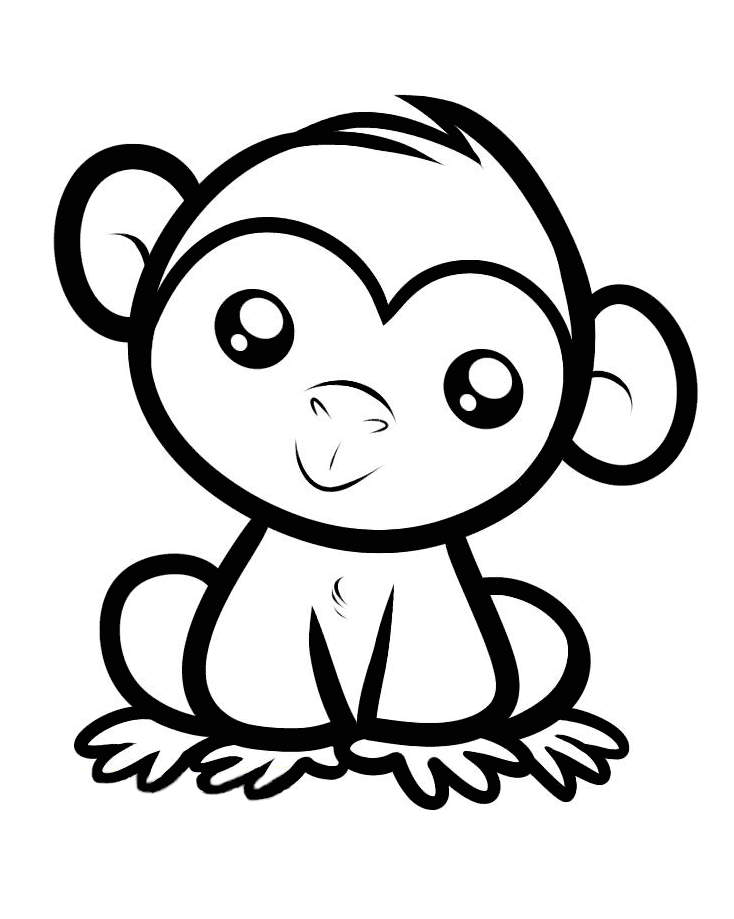 coloring picture of monkey monkeys for kids monkeys kids coloring pages coloring of monkey picture