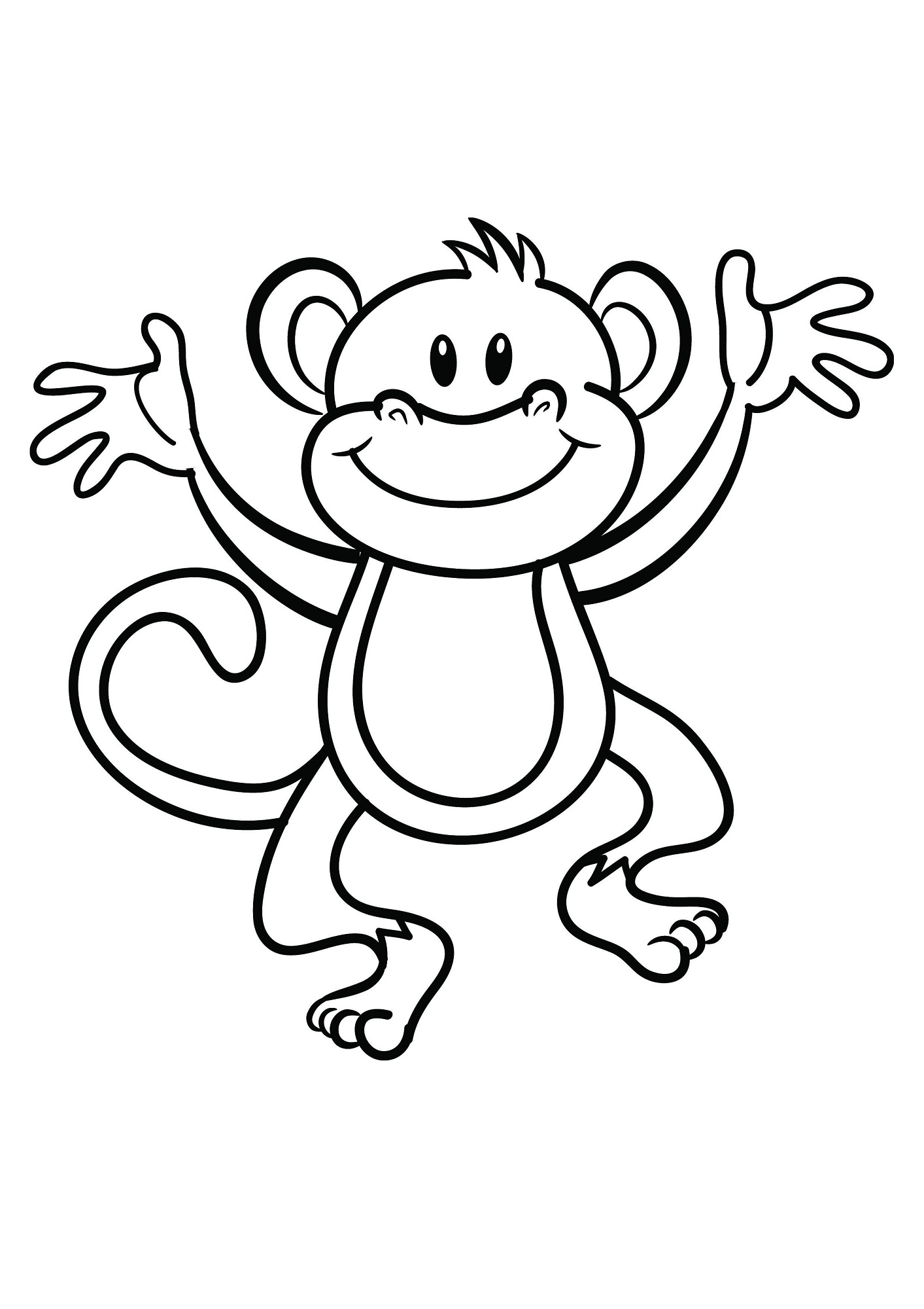 coloring picture of monkey monkeys to download for free monkeys kids coloring pages of picture monkey coloring