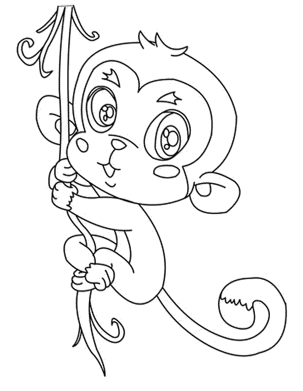 coloring picture of monkey monkeys to print for free monkeys kids coloring pages picture of monkey coloring