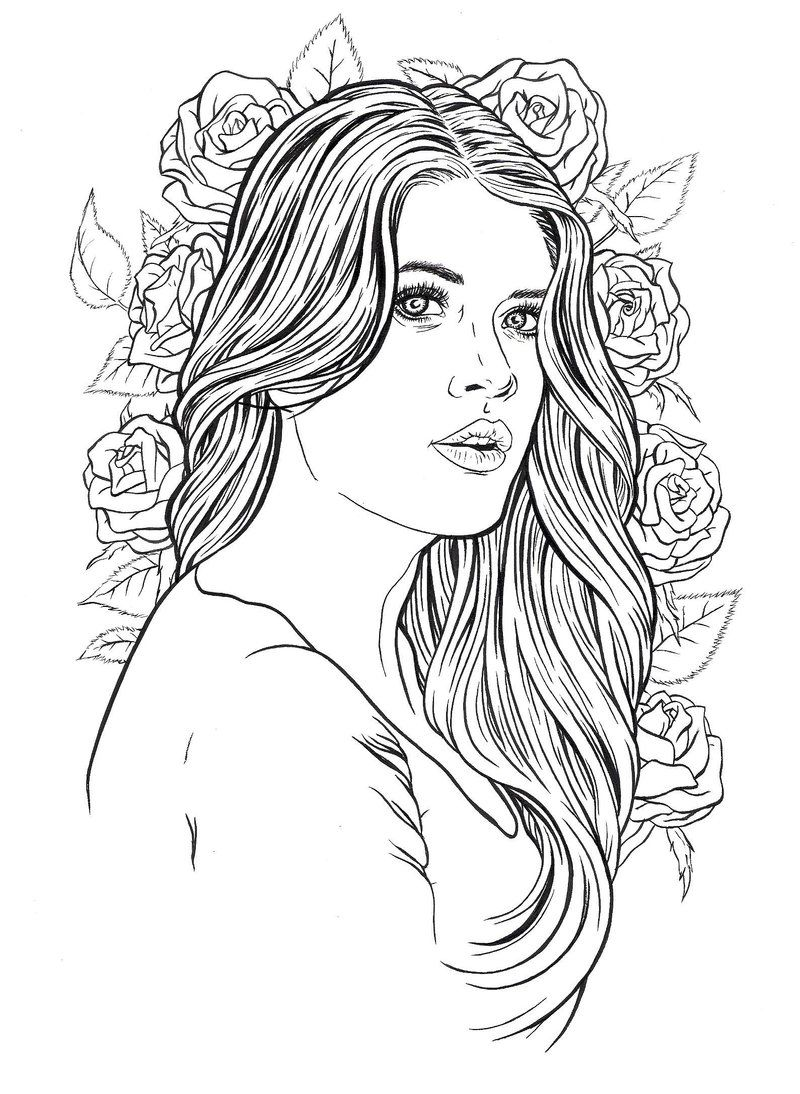 coloring picture people the 25 best ideas for realistic girl people coloring pages coloring people picture