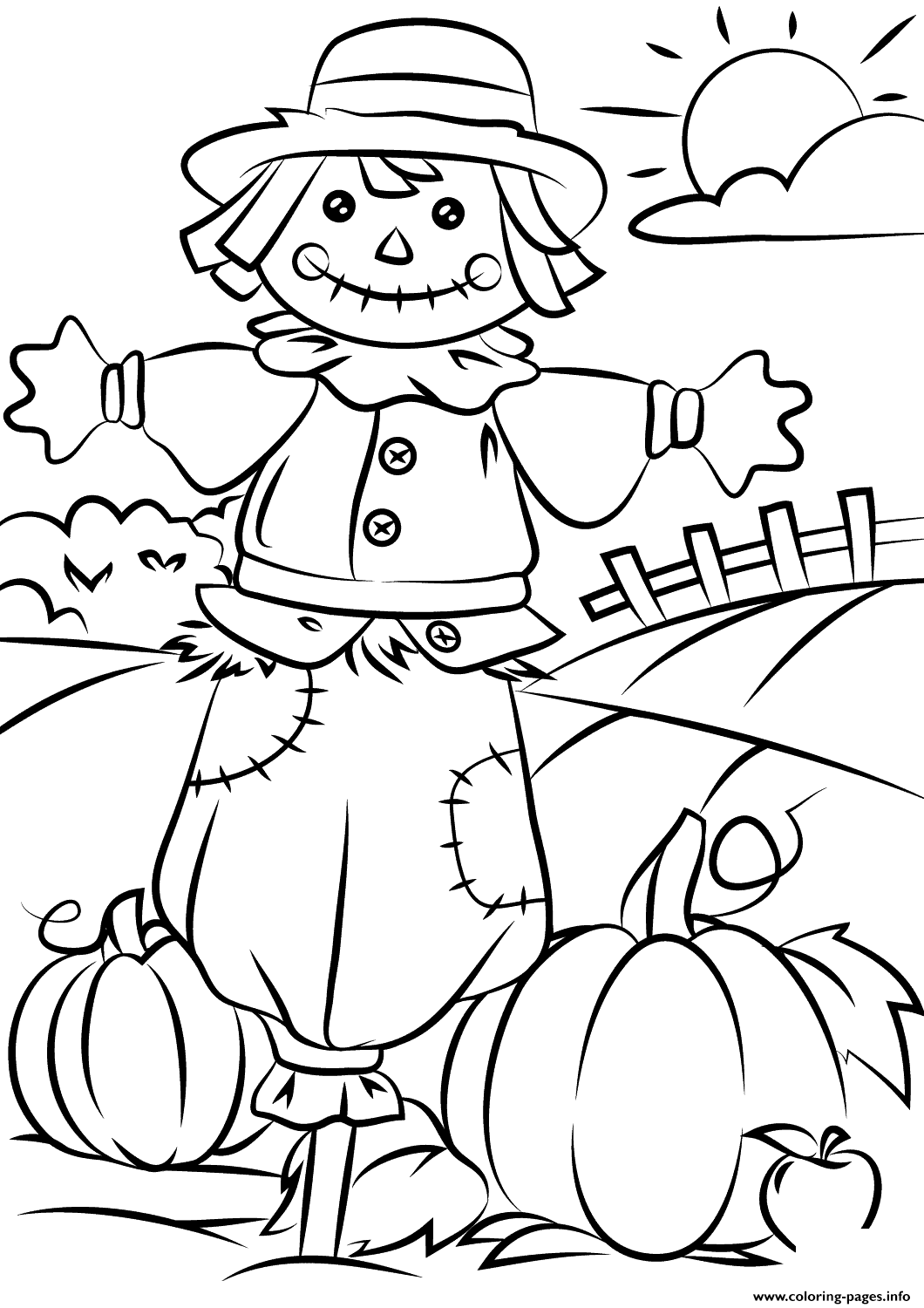 coloring pictures fall coloring town coloring fall pictures