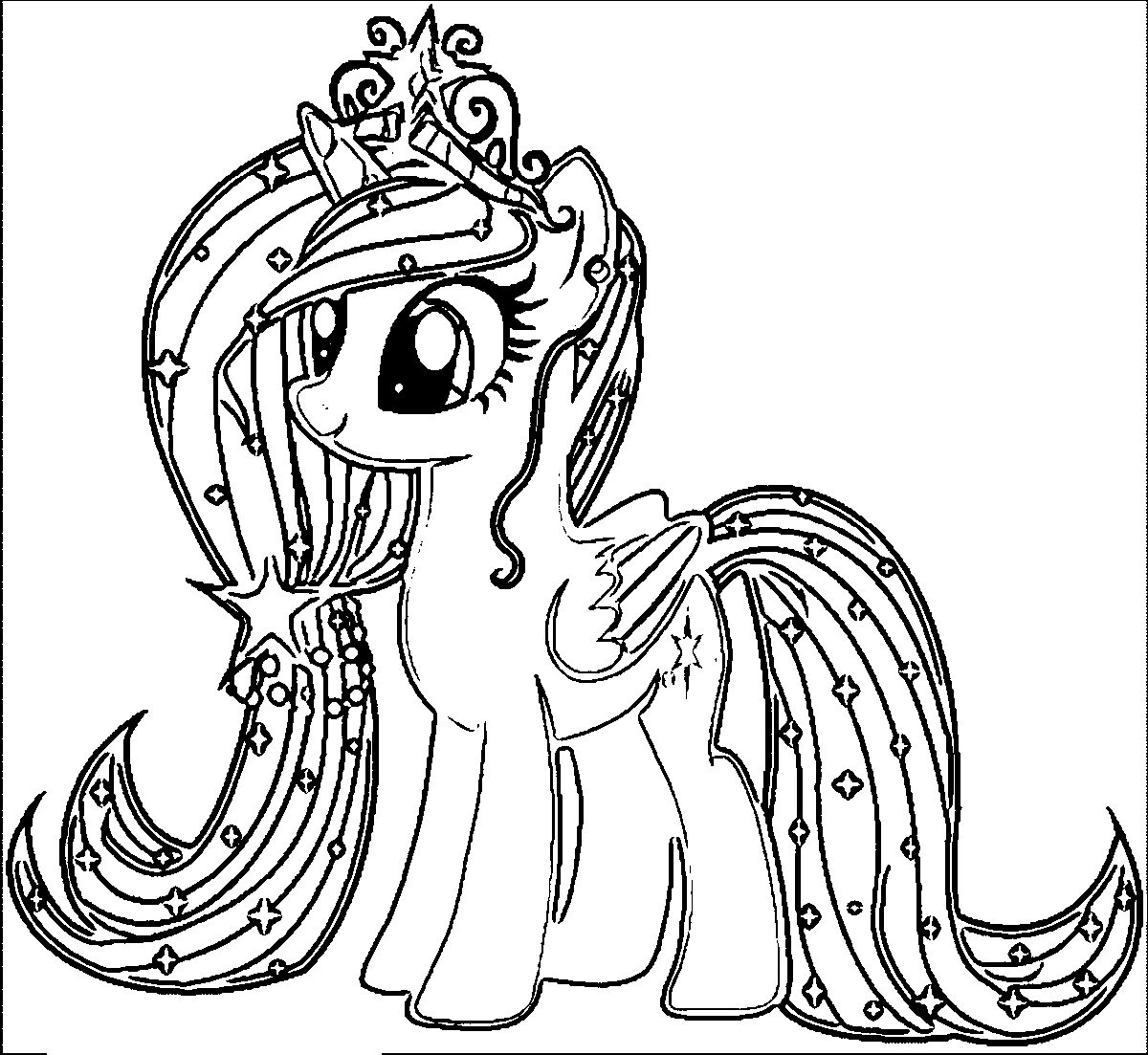 coloring pony my little pony colouring sheets fluttershy my little coloring pony