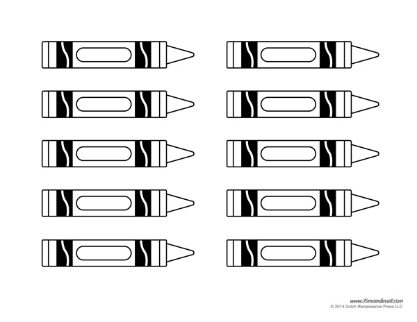 coloring printable crayon template crayon template 12 pages by barb beale teachers pay coloring crayon template printable