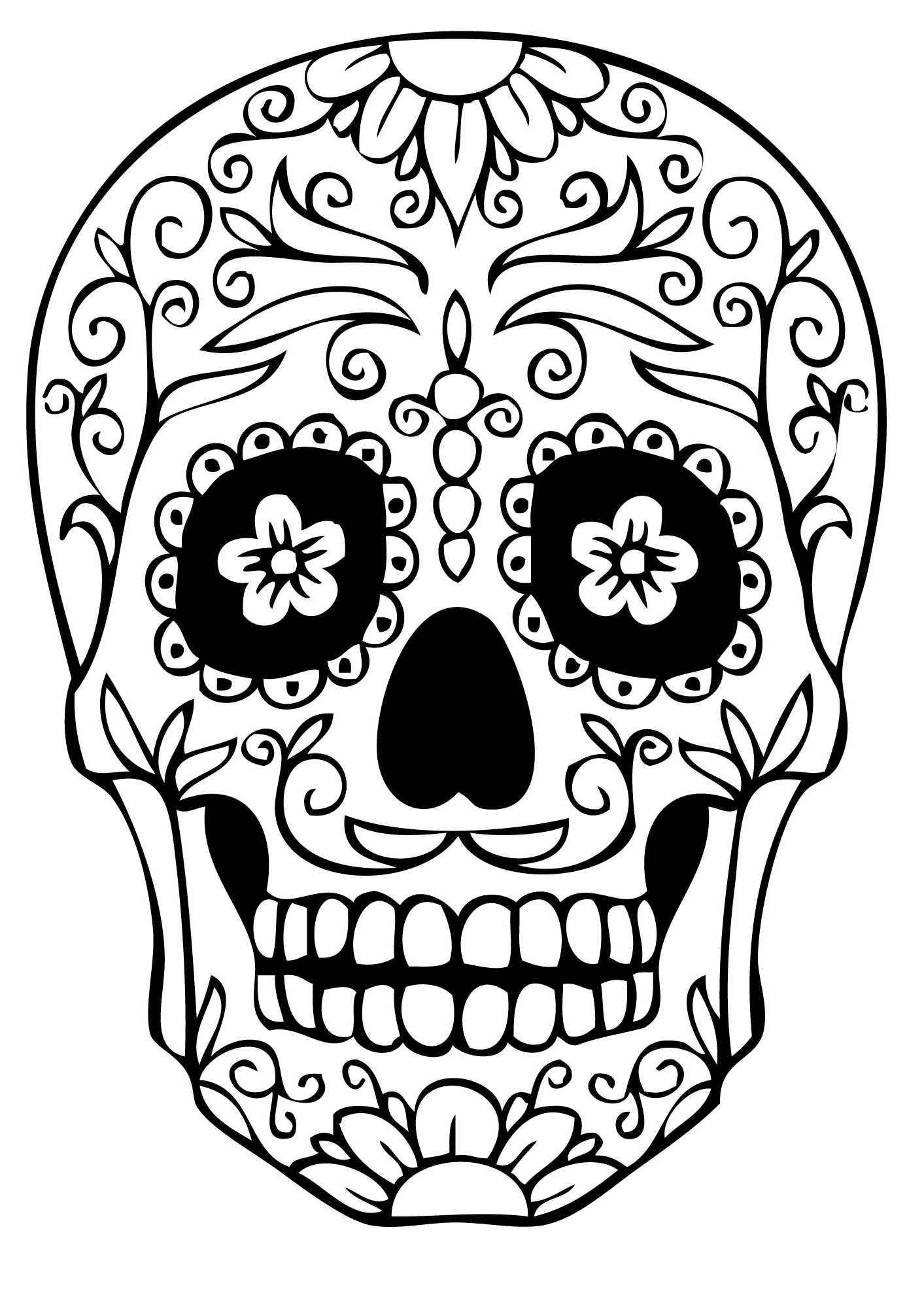 coloring printable day of the dead day of the dead sugar skull coloring page free printable of coloring day the printable dead