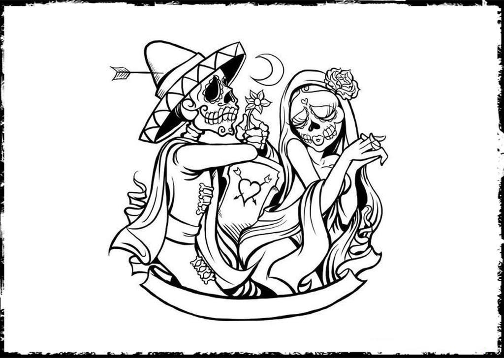 coloring printable day of the dead free printable day of the dead coloring pages best day printable of dead coloring the