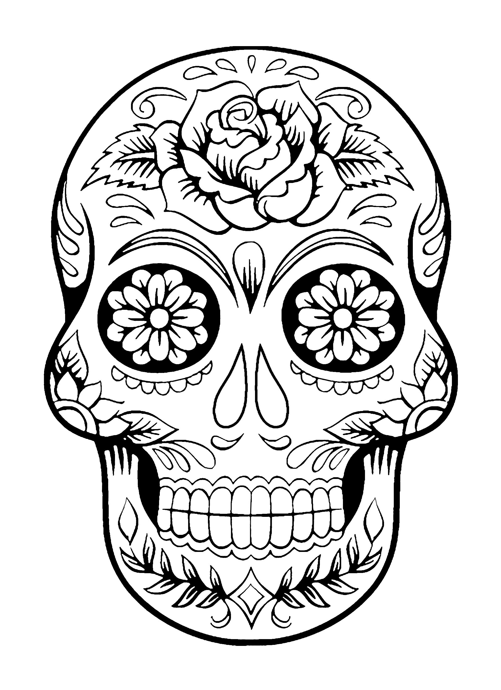 coloring printable day of the dead free printable day of the dead coloring pages best dead the of day coloring printable