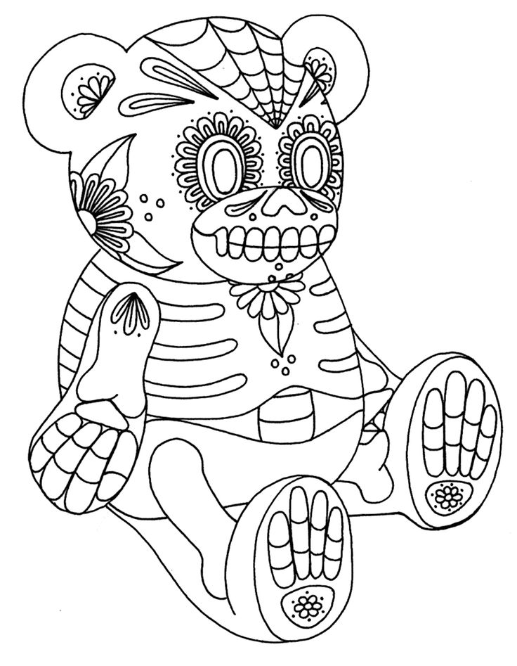 coloring printable day of the dead free printable day of the dead coloring pages best printable coloring the dead of day