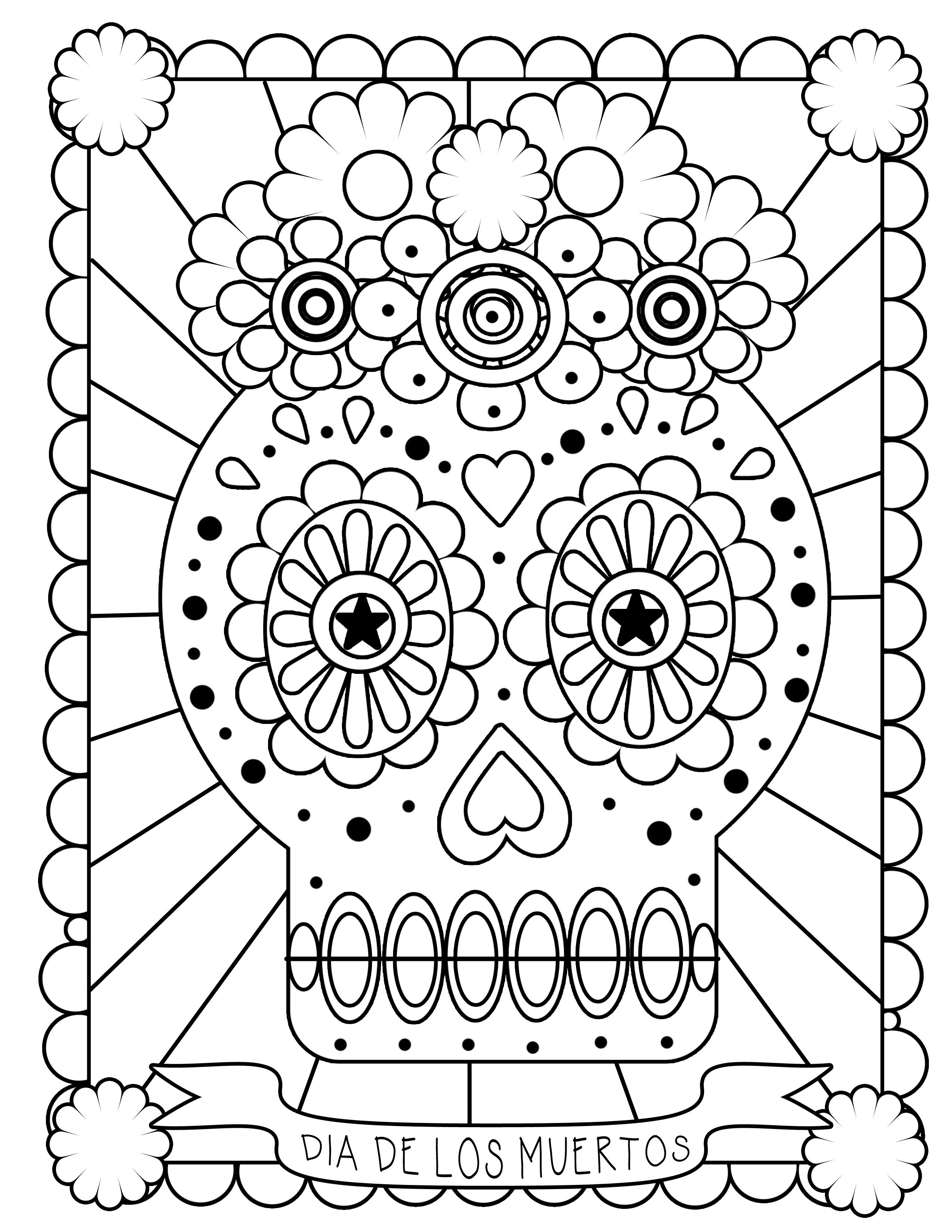 coloring printable day of the dead free printable day of the dead coloring pages best printable of day coloring dead the