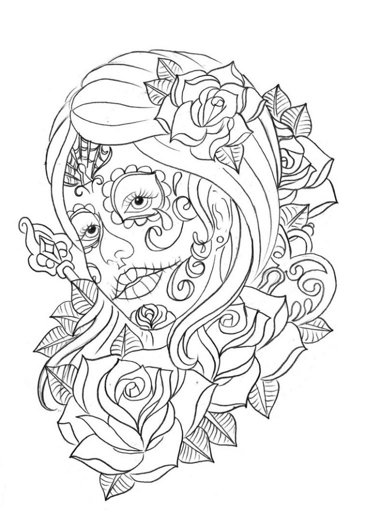 coloring printable day of the dead free printable day of the dead coloring pages best printable the day dead of coloring