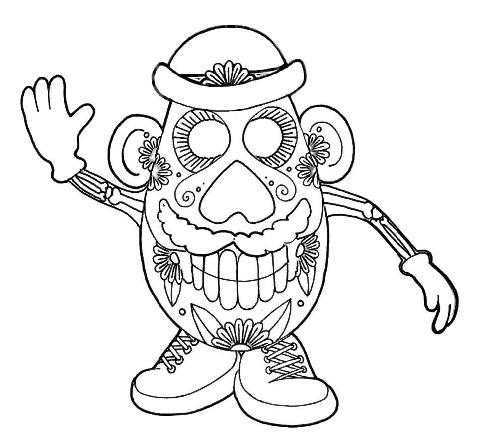 coloring printable day of the dead get this day of the dead coloring pages online printable dead coloring the of day printable